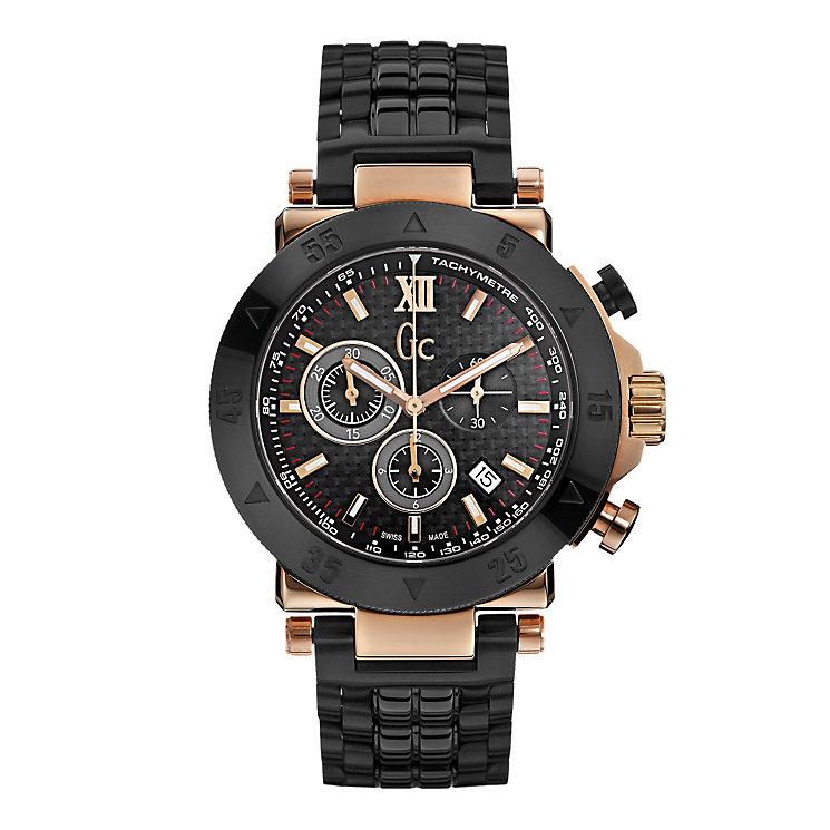 Gc men's rose gold-plated black ceramic bracelet watch - Product number 1957872