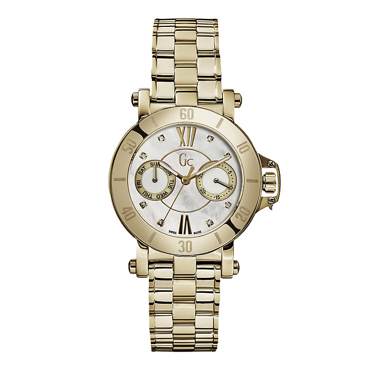 Gc ladies' mother of pearl gold-plated bracelet watch - Product number 1957902