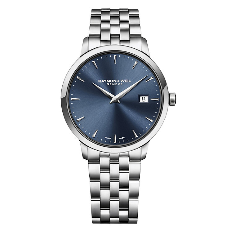 raymond weil watches ernest jones raymond weil toccata men s stainless steel bracelet watch product number 1957988
