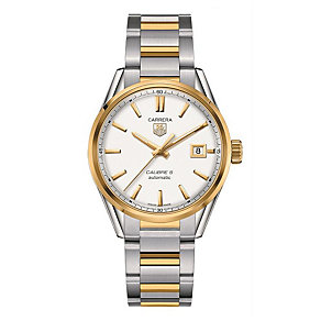 TAG Heuer Carrera Calibre 5 men's two colour bracelet watch - Product number 1958046