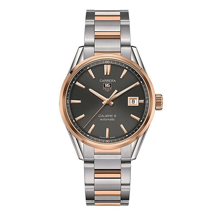 TAG Heuer Carrera Calibre 5 men's two colour bracelet watch - Product number 1958054