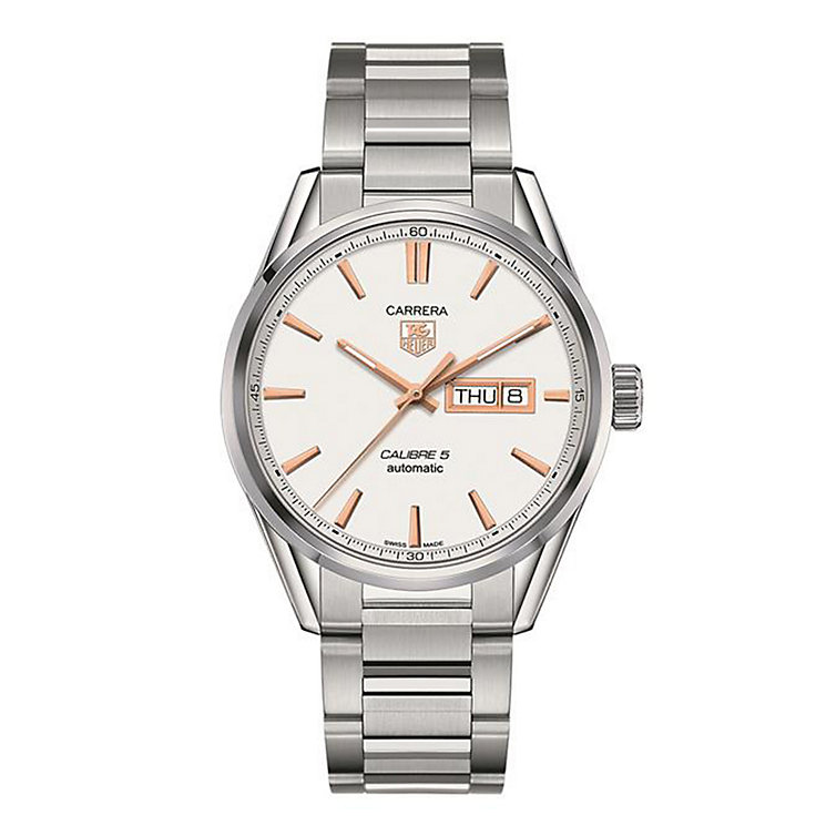 TAG Heuer Carrera Calibre 5 men's steel bracelet watch - Product number 1958070