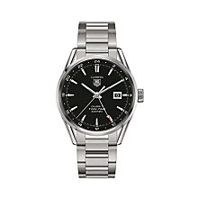 TAG Heuer Carrera Calibre 7 Twin-Time steel bracelet watch - Product number 1958089