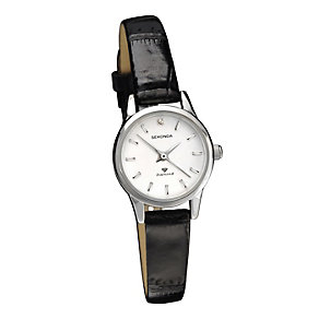 Sekonda Ladies' White Dial Black Leather Strap Watch - Product number 1961438