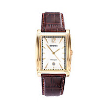 Sekonda Classique Men's Gold-Plated Brown Leather Watch - Product number 1961489