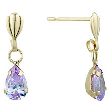 9ct Gold Cubic Zirconia Teardrop Earrings - Product number 1961837
