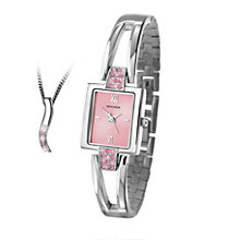 Sekonda Ladies' Semi-Bangle Watch and Pendant Gift Set - Product number 1961888