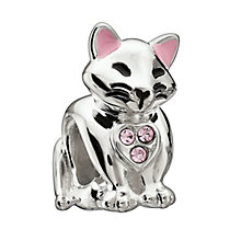 Chamilia Sterling Silver Pink Crystal Cat's Meow Bead - Product number 1962248