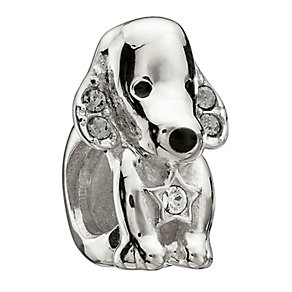 Chamilia Sterling Silver Crystal Dazzle Dog Bead - Product number 1962256