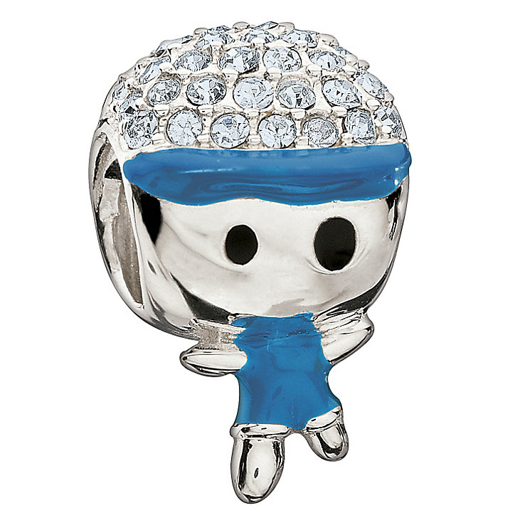 Chamilia Sterling Silver Blue Crystal Little Boy Bead - Product number 1962280