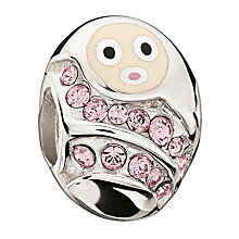 Chamilia Sterling Silver Pink Crystal Cozy Baby Girl Bead - Product number 1962302