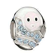 Chamilia Sterling Silver Blue Crystal Cozy Baby Boy Bead - Product number 1962310