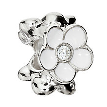Chamilia Sterling Silver Crystal Blooming White Jasmine Bead - Product number 1962329