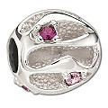 Chamilia Sterling Silver Pink Crystal Tide Bead - Product number 1962388