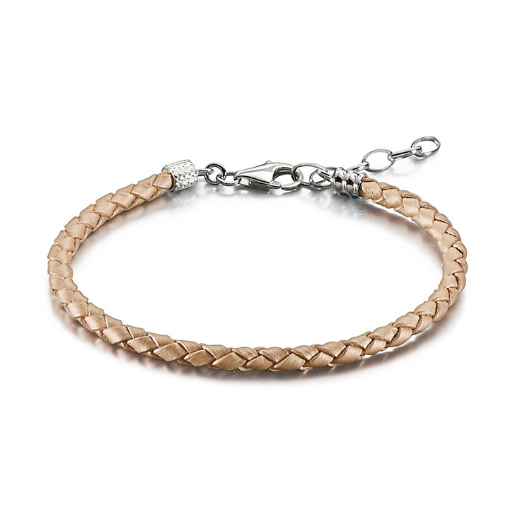 Chamilia Blush Braided Leather One Size Bracelet - Product number 1962639