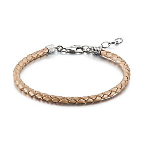 Chamilia Blush Braided Leather One Size Bracelet - Product number 1962639