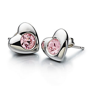 Chamilia Pink Swarovski Elements Radiant Heart Stud Earrings - Product number 1962663