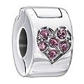 Chamilia Light Pink Swarovski Elements Jewelled Heart Lock - Product number 1962671