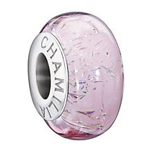 Chamilia Sterling Silver Purple Murano Glass Glitter Bead - Product number 1962744