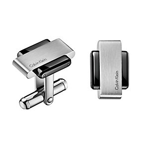 Calvin Klein men's stainless & steel black PVD cufflinks - Product number 1963902