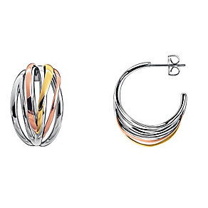 Calvin Klein Crisp three colour hoop earrings - Product number 1963988