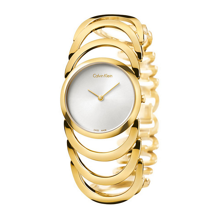Calvin Klein Body ladies' gold-plated bracelet watch - Product number 1964054