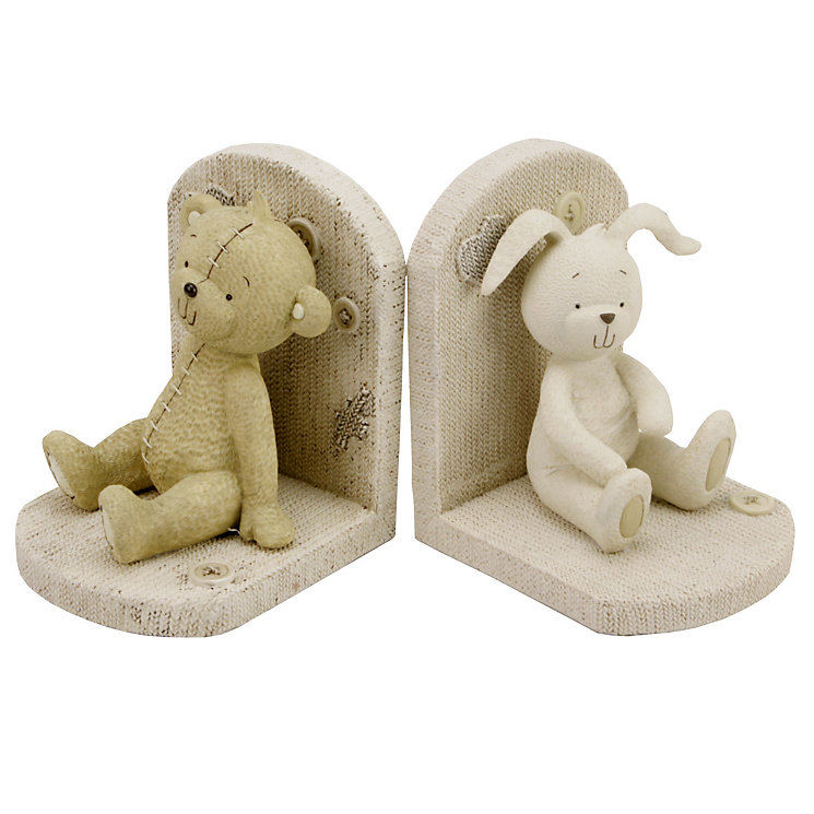 Button Corner Bear & Rabbit Bookends - Product number 1968645
