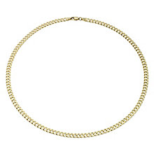 "9ct Gold 18"" 120G Small Curb Chain Necklace - Product number 1968858"
