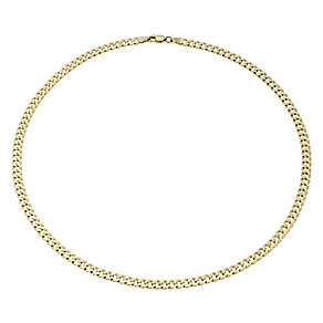 "9ct Gold Men's 18"" 120G Small Curb Chain Necklace - Product number 1968858"