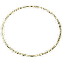 "9ct Gold 20"" 120G Small Curb Chain Necklace - Product number 1968866"