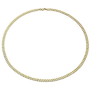 "9ct Gold Men's 20"" 120G Small Curb Chain Necklace - Product number 1968866"