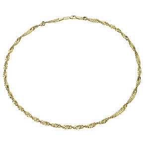 "Together Bonded Silver & 9ct Gold 18"" 70G Singapore Necklace - Product number 1968890"