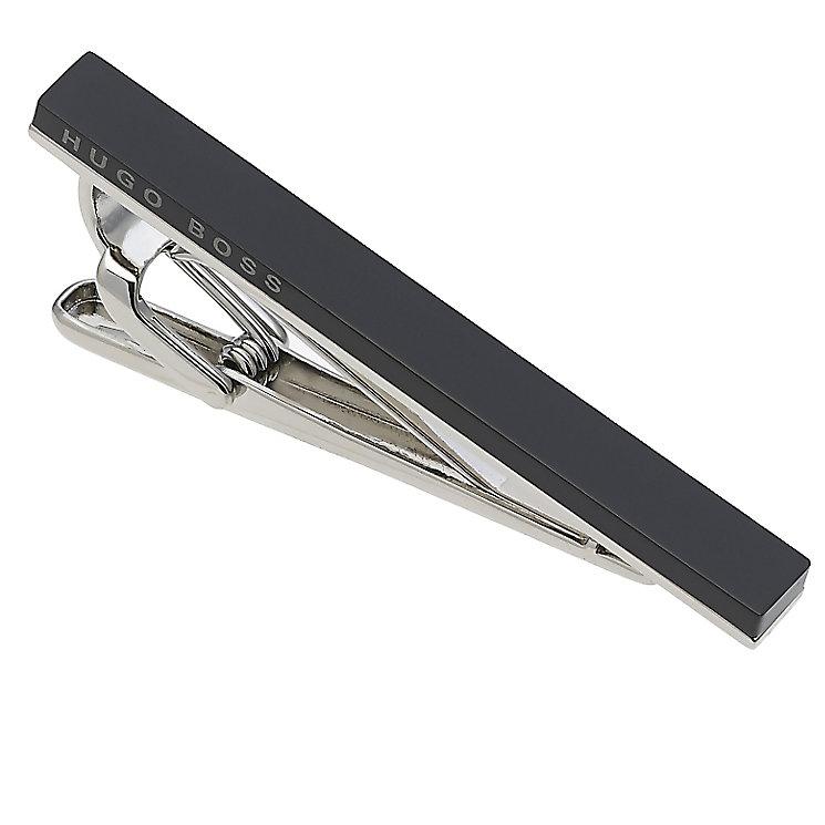 Hugo Boss Troberto silver tone & black enamel tie clip - Product number 1968963