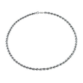 "Sterling Silver Rhodium-Plated 17"" Rope Chain Necklace - Product number 1969048"