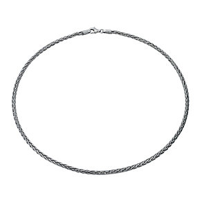"Sterling Silver Rhodium-Plated 17.75"" Spiga Chain Necklace - Product number 1969056"