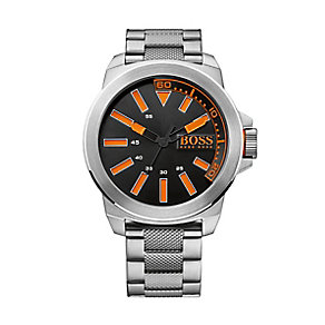 Boss Orange Gents Stainless Steel Black Index Dial Watch - Product number 1973177