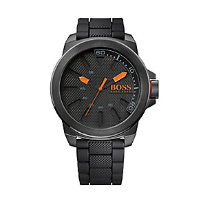 Boss Orange Men's Black & Orange Quartz Watch - Product number 1973541