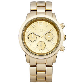 Lipsy Ladies' Gold Tone Round Dial Bracelet Watch - Product number 1976826