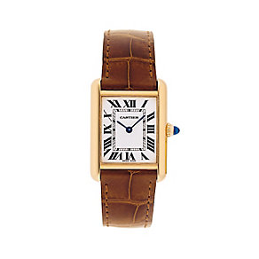 Cartier Tank Louis Cartier ladies' brown leather strap watch - Product number 1976850