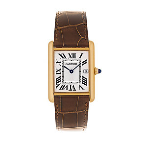Cartier Tank Louis Cartier men's leather strap watch - Product number 1976869