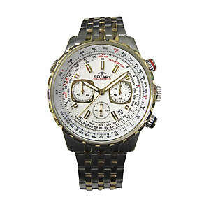 Rotary Men's Chronograph Dial Two Tone Bracelet Watch - Product number 1976990