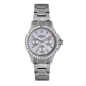 Rotary Ladies' Stone Set Stainless Steel Bracelet Watch - Product number 1977008