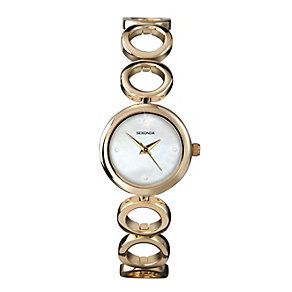 Sekonda Ladies' Gold Plated Circular Bracelet Watch - Product number 1984551