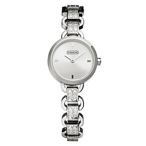 Coach ladies' logo link stainless steel bracelet watch - Product number 1985132