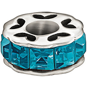 Chamilia Sterling Silver Blue Sparkle Bead - Product number 1985973