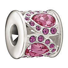 Chamilia Sterling Silver Pink Petals Swarovski Crystal Bead - Product number 1986007