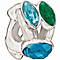 Chamilia With Swarovski Crystal Green & Blue Crystal Bead - Product number 1986015