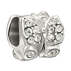 Chamilia Sterling Silver Swarovski Elements Butterfly Bead - Product number 1986120
