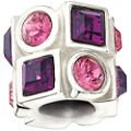 Chamilia Silver Purple & Pink Swarovski Elements Bead - Product number 1986570