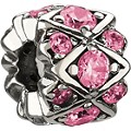 Chamilia Silver Pink Swarovski Crystal Elements Bead - Product number 1986651